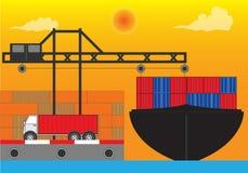 Port. International port for industry transportation Stock Photo