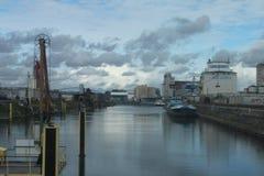 Port intérieur de Hanau Images libres de droits