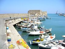 Port in Iraklion royalty free stock images