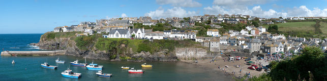 Port Isaac in Cornwall Stock Photos