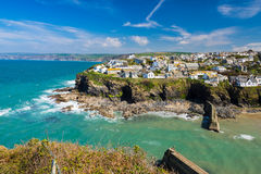 Port Isaac Cornwall England photographie stock