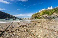 Port Isaac Cornwall England images libres de droits