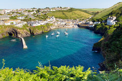 Port Isaac Cornwall England R-U photos libres de droits