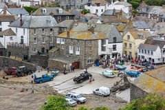 PORT ISAAC, CORNWALL/UK - AUGUST 13 : A view of Port Isaac in Co Stock Image