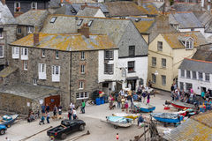 PORT ISAAC, CORNWALL/UK - AUGUST 13 : A view of Port Isaac in Co Stock Photography