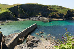 Port Isaac harbour North Cornwall England UK Stock Photo