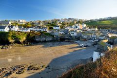 Port Isaac, a small and picturesque fishing village on the Atlantic coast of north Cornwall, England, United Kingdom, famous as ba. Ckdrop to various television royalty free stock photography