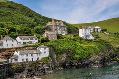 Port Isaac. The picturesque port of Port Isaac in England, also the location of the Doc Martin Stock Photo