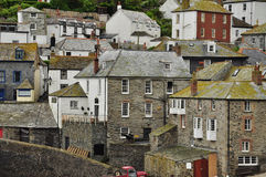 Port Isaac village, Cornwall, England, UK. Port Isaac: typical Cornish village architecture, North Cornwall, England, Britain Stock Image