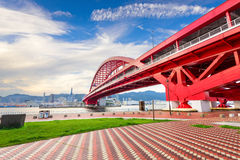 Port Island Bridge in Kobe, Japan Stock Images