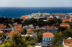 The Caribbean. Willemstad, capital of the Island Of Curacao. The port of the Island Of Curacao. It attracts hundreds of thousands of passengers of cruise ships Stock Photo