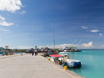 Port of the island of La Digue Royalty Free Stock Image