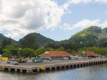 Port of the island of Mahe Royalty Free Stock Image