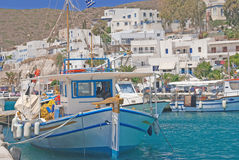 Port on the island Stock Image