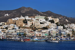 Port on the island of Naxos Royalty Free Stock Photo