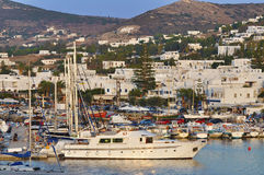 Port on the island of Paros Stock Photography