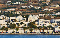 Port on the island of Paros Royalty Free Stock Photography