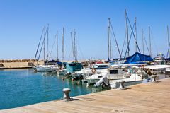 The port at Jaffa in Israel Royalty Free Stock Images