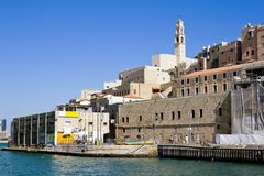 The port at Jaffa in Israel Royalty Free Stock Image