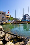 The port at Jaffa in Israel Stock Images