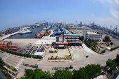 Port Jakarta de Tanjung Priok Photos libres de droits