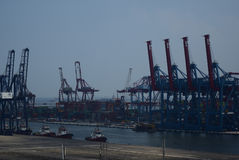 Port Jakarta de Tanjung Priok Photographie stock libre de droits