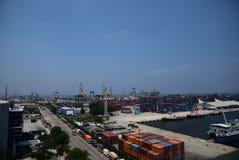 Port Jakarta de Tanjung Priok Photographie stock libre de droits