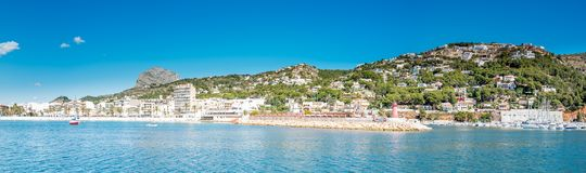 The Port Javea Pano royalty free stock image