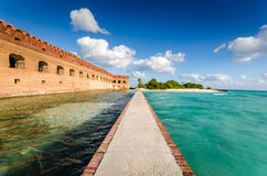 Fort Jefferson Moat Walk - Dry Tortugas National Park royalty free stock photos