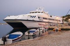 Port Jelsa na wyspie Hvar Fotografia Royalty Free
