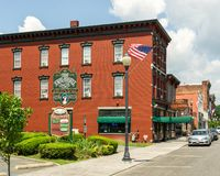 Port Jervis, NY / United States - July 7, 2019:  A view of The Erie Hotel & Restaurant
