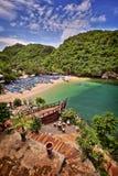 Port Jogjakarta de village de pêche de Gesing image stock