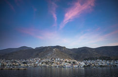Port of Kalymnos. Dawn Stock Photos