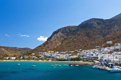 Port of Kamares, Sifnos. Stock Image
