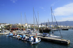 Port of Kardamena on Kos. Island, Greece Royalty Free Stock Images
