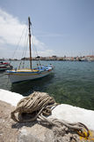 Port in Karlovassi in Greece - island Samos Royalty Free Stock Image