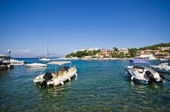 Port in Kassiopi village - Corfu, Greece Stock Image