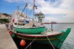 Port city Kavala, Greece Royalty Free Stock Photo