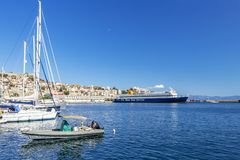 Port Kavala, Północny Grecja obrazy stock