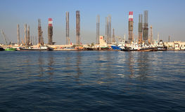 Port Khalid. Sharjah Creek. UAE Stock Image