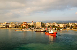 Port of Kiato morning Royalty Free Stock Images