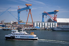Port of Kiel Stock Photo