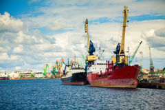 At the port of Klaipeda Stock Photo