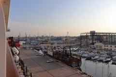 Port Klaipeda w Lithuania w lecie na wakacje obrazy royalty free