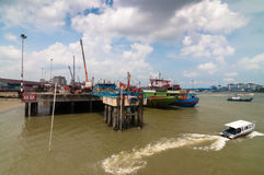 Port Klang Jetty. This jetty jetty was using for transportation to island near by stock images