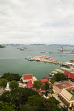 Port of Ko Si Chang, Thailand. Harbor Beach Chang Island, Thailand Stock Photo