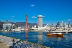 Port Kobe i Kobe wierza, Japonia Obraz Royalty Free