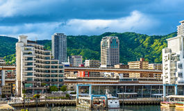 The Port of Kobe - Japan. View of the Port of Kobe - Japan Stock Photo