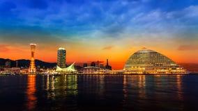 Port of Kobe with Kobe Port Tower Stock Photography