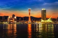 Port of Kobe with Kobe Port Tower Royalty Free Stock Image